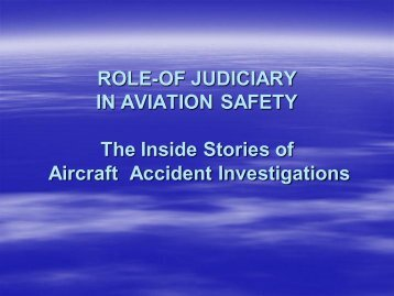 Aircraft Accident Investigations - IEP Karachi Centre