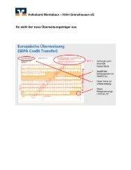 IBAN und BIC - Volksbank Montabaur