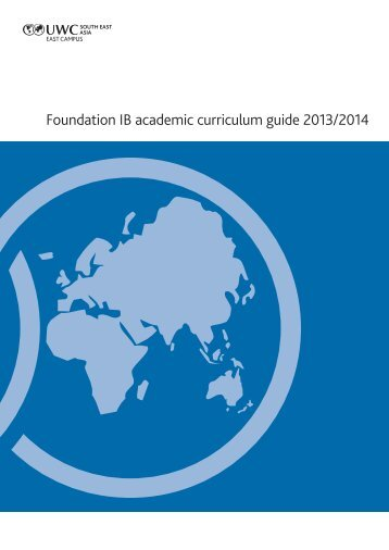 Foundation IB curriculum guide - Amazon Web Services