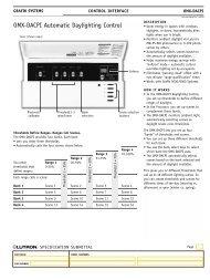 OMX-DACPI Automatic Daylighting Control - Lutron