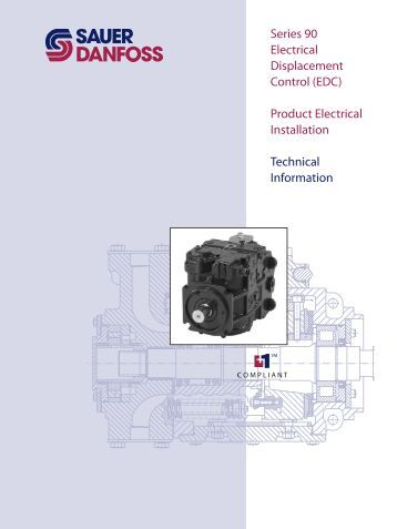 Series 90 Electrical Displacement Control (EDC ... - Sauer-Danfoss