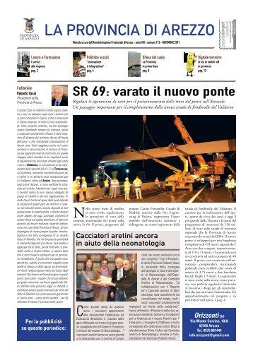 il periodico di novembre 2011 - Protezione Civile della Provincia di ...