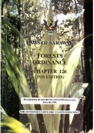 Forests Ordinance, 1958 - Sarawak Forestry