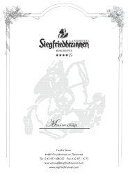 Menüvorschläge - Ringhotel Siegfriedbrunnen