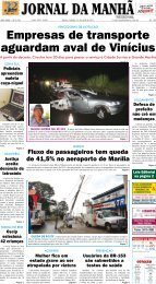 Empresas de transporte aguardam aval de Vinícius - Jornal da Manhã