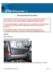 Intrumentenkombi aus/einbau Ausbau - Motor-Talk