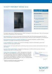 SCHOTT PERFORM ® MONO 255-270 3BB new frame data sheet ...