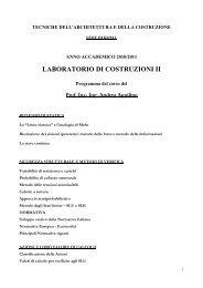 Programma Prof. Aquilino 2011 - Sede di Architettura