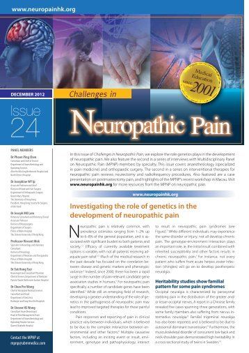 Downloadable PDF - Multidisciplinary Panel on Neuropathic Pain