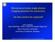 Microchannel plate single photon imaging detectors for astronomy ...