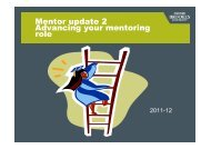 Mentor update2 - Advancing your mentoring role