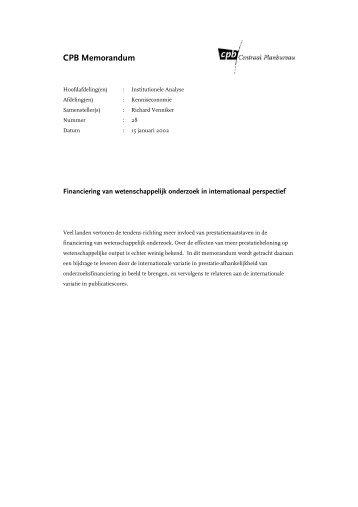 [PDF] Financiering van wetenschappelijk onderzoek in ...