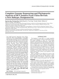 Complete genome sequencing and phylogenetic analysis of HCV ...