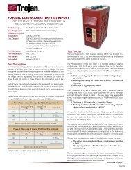 flooded lead acid battery test report - Trojan Battery Company
