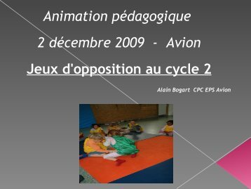 Jeux d'opposition / Cycle 2...