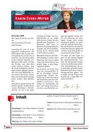 Bericht aus Berlin November 2009 - Karin Evers-Meyer MdB
