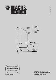 INSTRUKCJA OBSŁUGI MODEL KX418E - Servis - Black & Decker