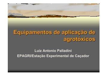 Equipamentos de aplicação de agrotóxicos Equipamentos de ...