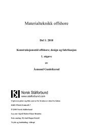 Materialteknikk offshore - Norsk Stålforbund