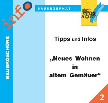 """Tipps und Infos """"Neues Wohnen in altem Gemäuer"""""""