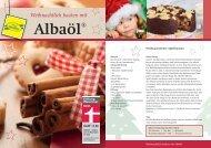 Weihnachtlich Backen mit Albaöl