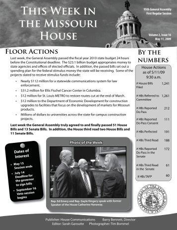 May 11, 2009 - Missouri House of Representatives