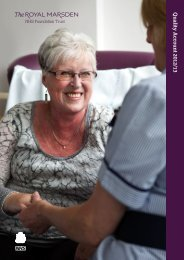 The Royal Marsden NHS Foundation Trust Quality Account 2012/13