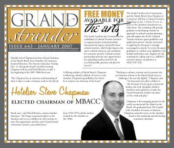 January 2007 - Myrtle Beach Area Chamber of Commerce