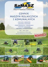 cennik maszyn rolniczych i komunalnych - SaMASZ Sp. z oo