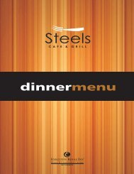 Dinner Menu 2011.cdr - Executive Hotels and Resorts
