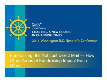 Fundraising, It's Not Just Direct Mail — How Other Areas of ...