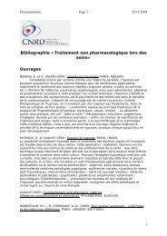 Traitement non pharmacologique lors des soins - CNRD