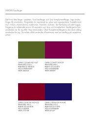 Det finns åtta färger i paletten. Fyra basfärger och fyra ...