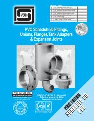 PVC Schedule 80 Fittings, Unions, Flanges, Tank Adapters