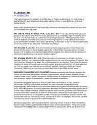 FLUORIDATION info - StopTheCrime.net