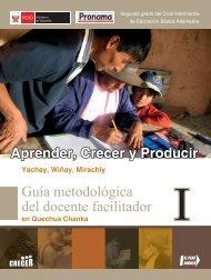 Guía metodológica del facilitador - Ministerio de Educación