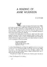 A READING OF ANNE WILKINSON