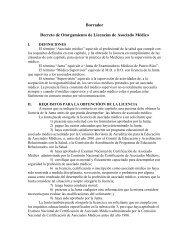 Borrador Decreto de Otorgamiento de Licencias de Asociado Médico