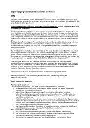 Stipendienprogramme für internationale Studenten - Hochschule für ...