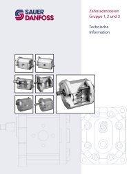 Zahnradmotoren Gruppe 1, 2 und 3 Technische ... - Sauer-Danfoss
