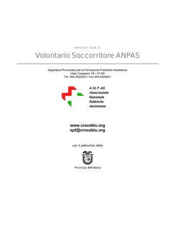Volontario Soccorritore ANPAS - ANPAS Provincia di Modena