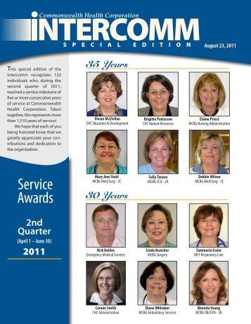 Intercomm Service Awards 2nd Quarter 2011_Special Edition