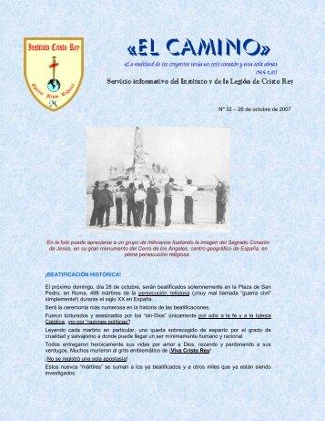 Nº 32 – 26 de octubre de 2007 - Instituto Cristo Rey