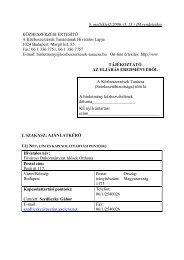 8. melléklet2/2006. (I. 13.) IM rendelethez KÖZBESZERZÉSI ...