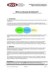 What is Security Architecture - ISSS