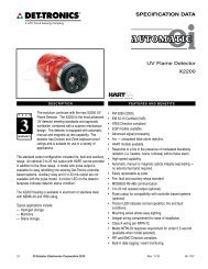 SPECIFICATION DATA UV Flame Detector X2200 - dsf GmbH dsf ...
