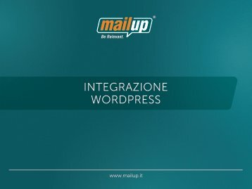 Integrazione WordPress - MailUp