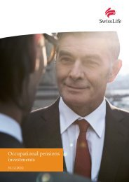 Occupational pensions investments - Swiss Life