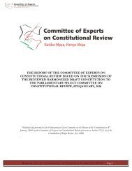 the report of the committee of experts on constitutional review issued ...