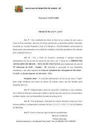 PROJETO DE LEI N - Câmara Municipal de Jundiaí